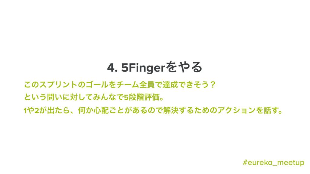 4. 5FingerΛΔ ͜ͷεϓϦϯτͷΰʔϧΛνʔϜશһͰୡͰ͖ͦ͏ʁ ͱ͍͏͍ʹର...