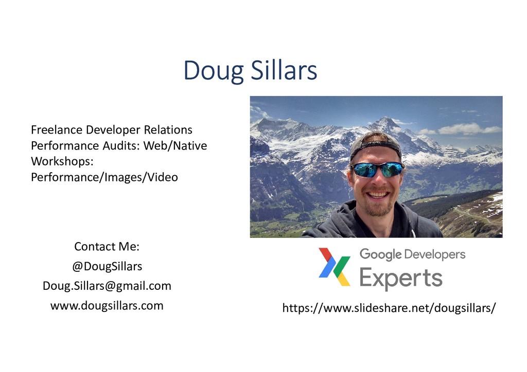 Contact Me: @DougSillars Doug.Sillars@gmail.com...