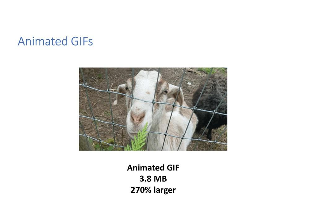 Animated GIFs Animated GIF 3.8 MB 270% larger