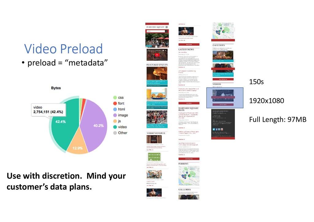 "Video Preload • preload = ""metadata"" 150s 1920x..."