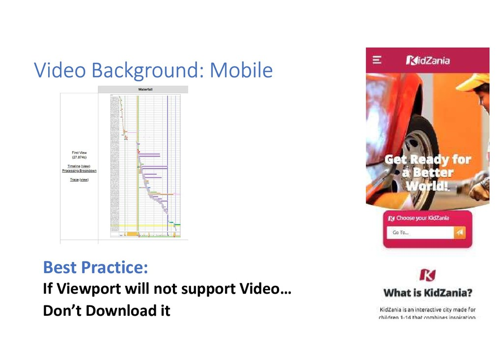 Video Background: Mobile Best Practice: If View...