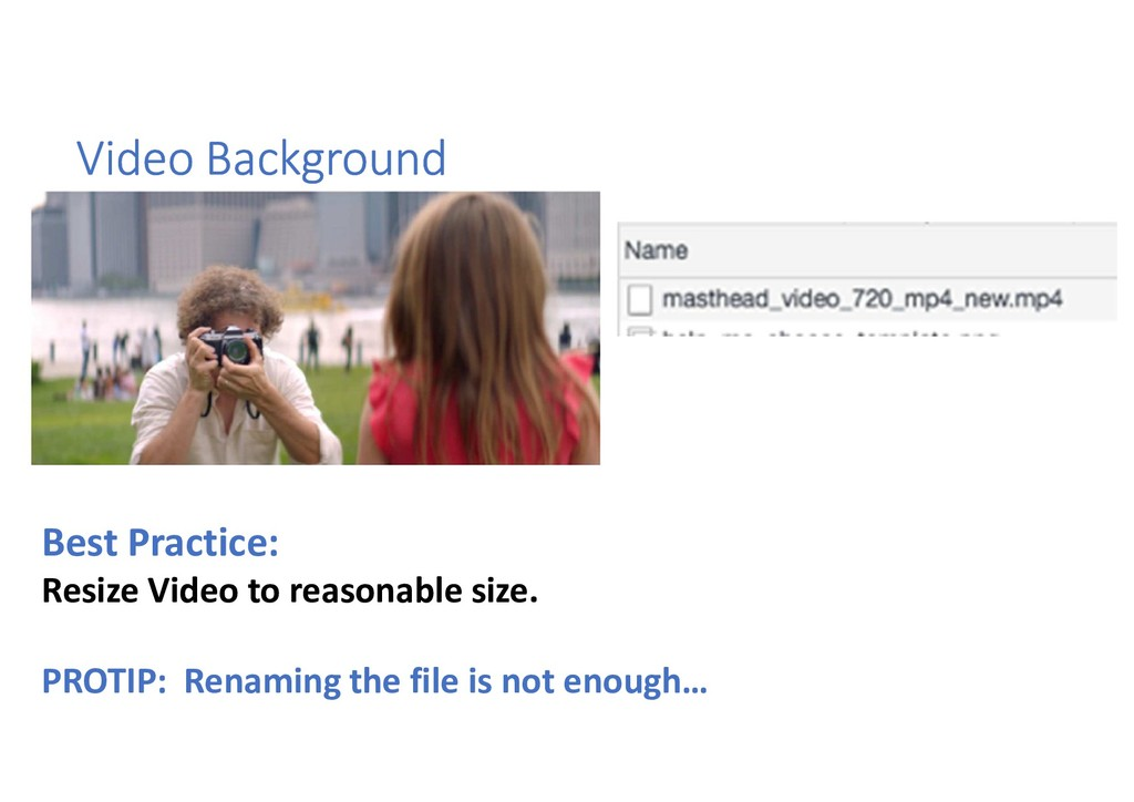 Video Background Best Practice: Resize Video to...