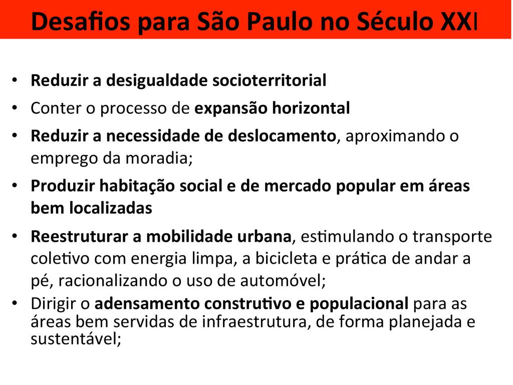 Desafios para São Paulo no Século...