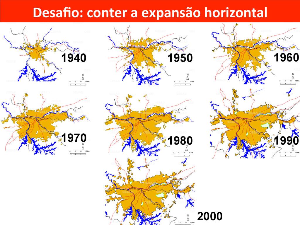 2000 1960 1940 1950 1970 1980 1990 Expansão da ...