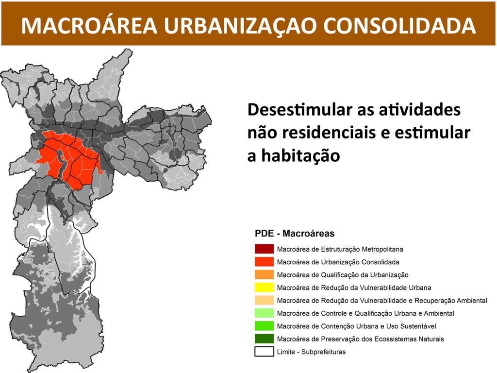 MACROÁREA URBANIZAÇAO CONSOLIDADA  Des...