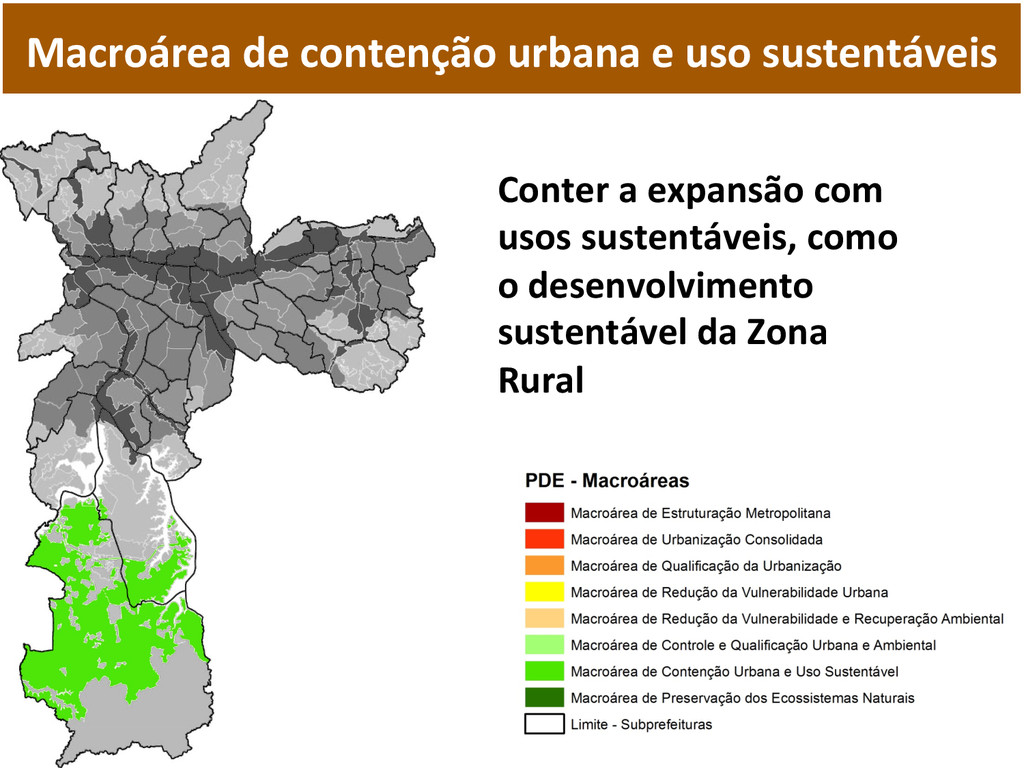 Macroárea de contenção urbana e ...