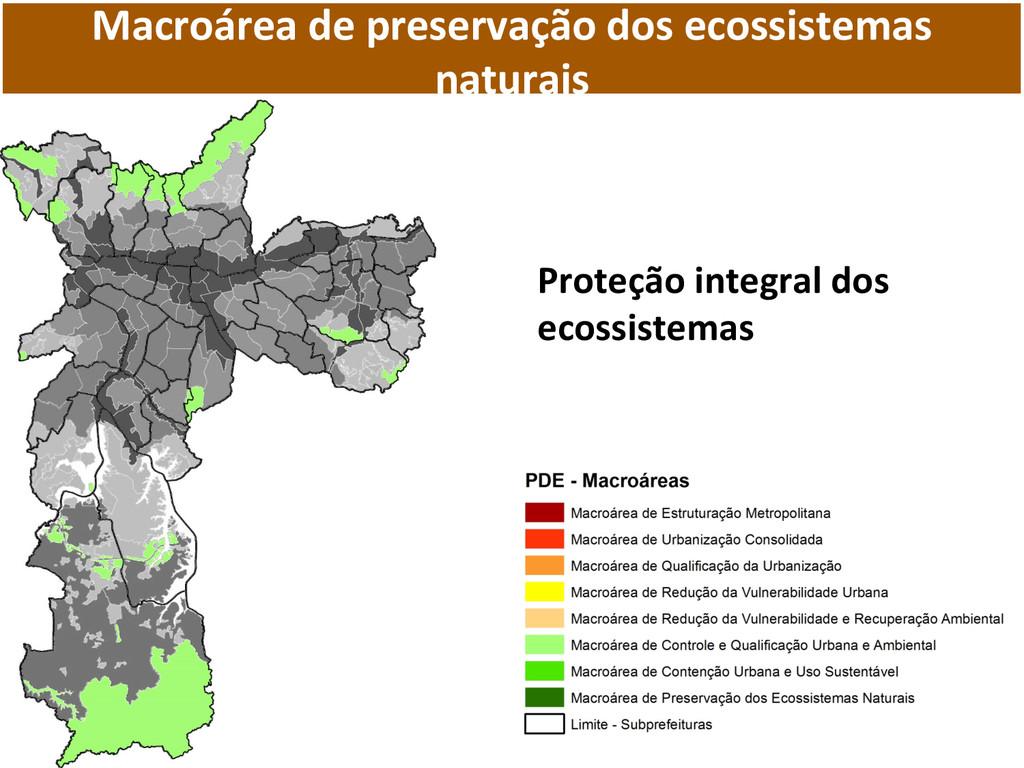 Macroárea de preservação dos ecossi...