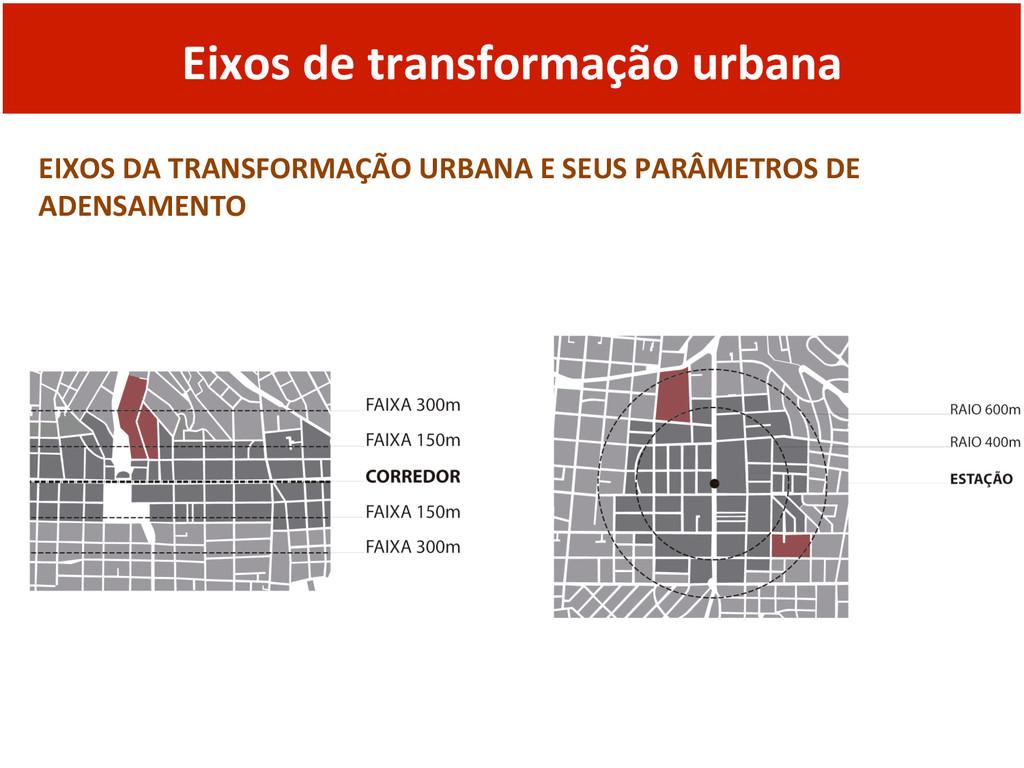 Eixos de transformação urbana  EIXO...