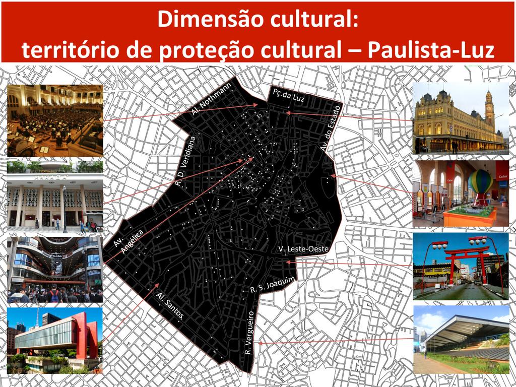 Dimensão cultural:   território de...