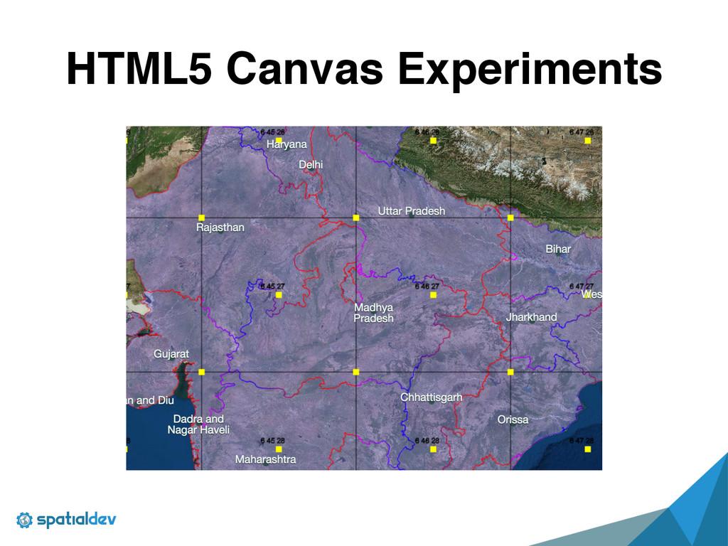 HTML5 Canvas Experiments