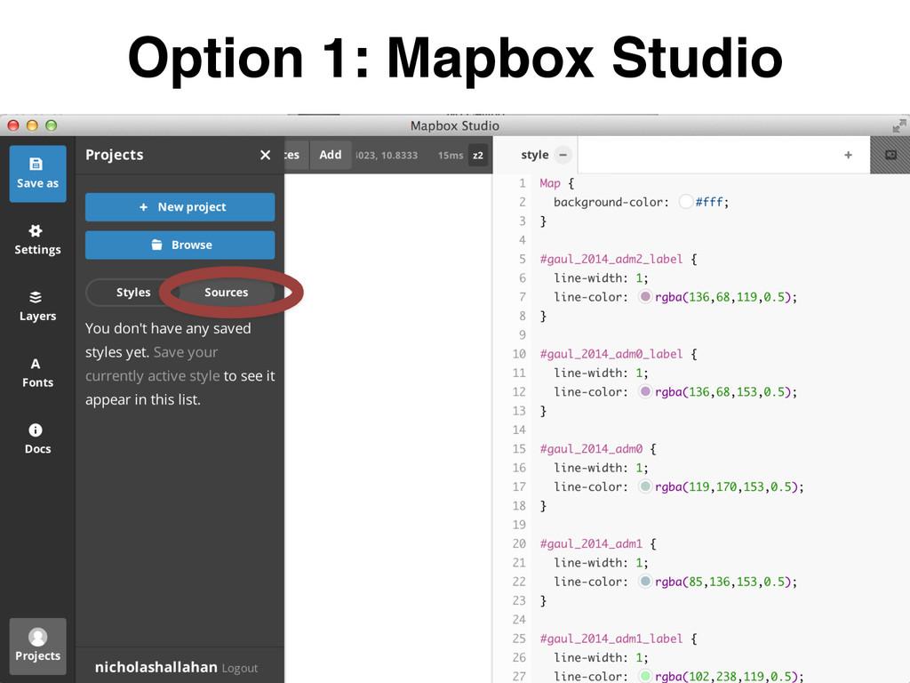 Option 1: Mapbox Studio