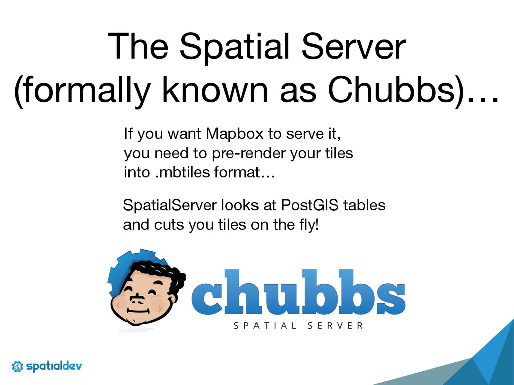 The Spatial Server   (formally known as Chubbs)...