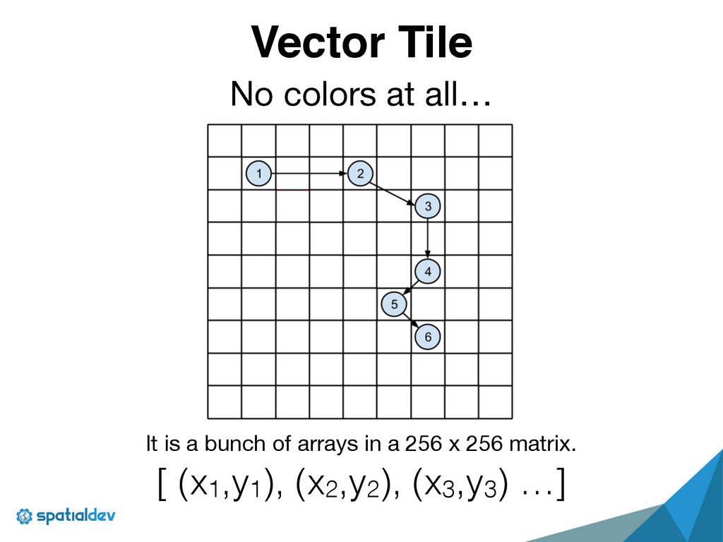 Vector Tile No colors at all… It is a bunch of ...