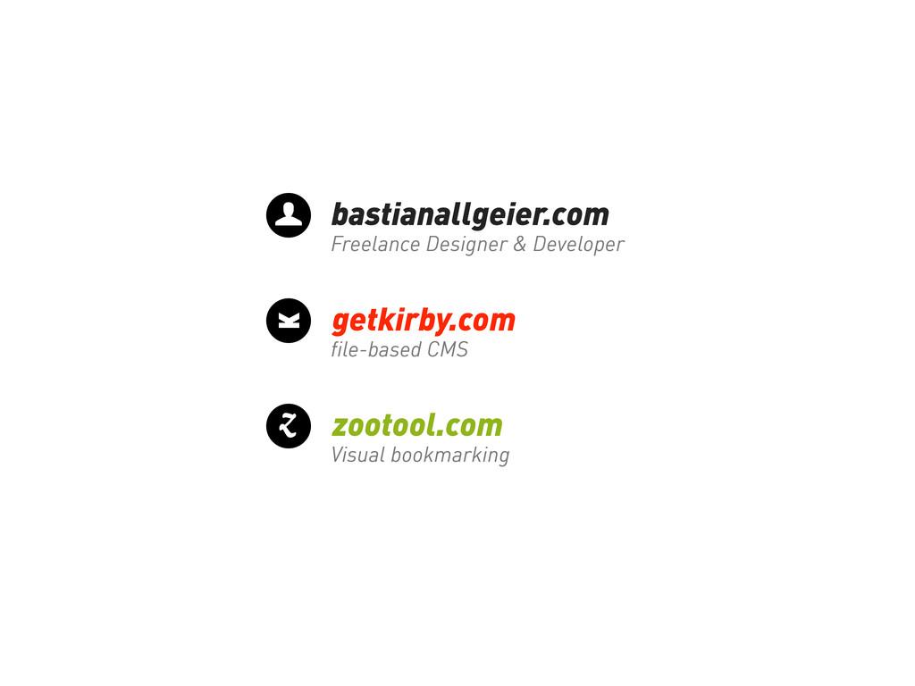 bastianallgeier.com Freelance Designer & Develo...