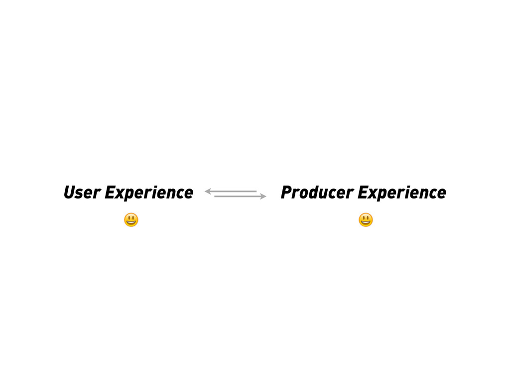 User Experience Producer Experience