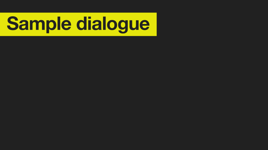 Sample dialogue Define personality