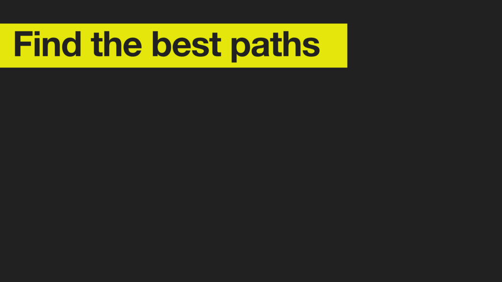 Find the best paths