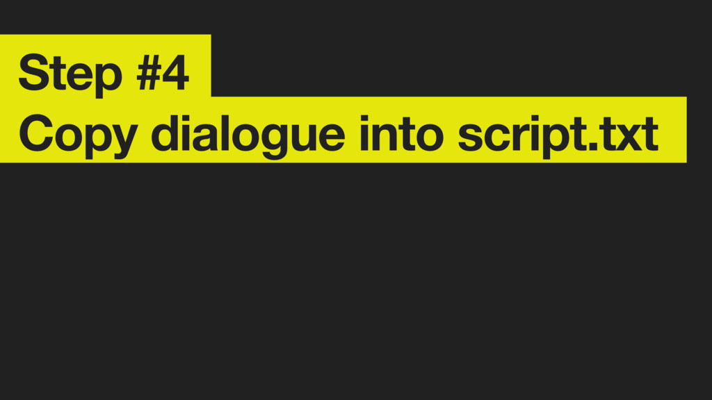 Step #4