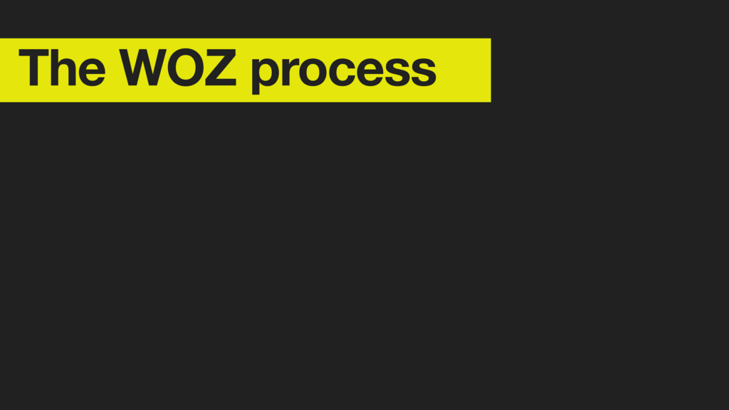 The WOZ process