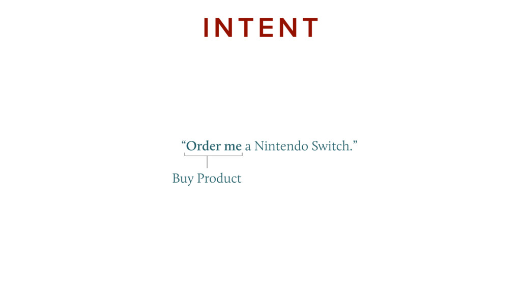 """Order me a Nintendo Switch."" INTENT Buy Pr..."