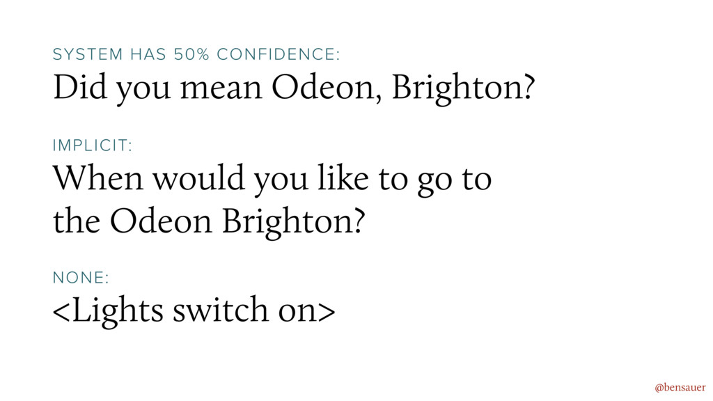Did you mean Odeon, Brighton? @bensauer SYSTEM ...