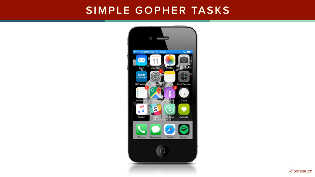 @bensauer SIMPLE GOPHER TASKS @bensauer