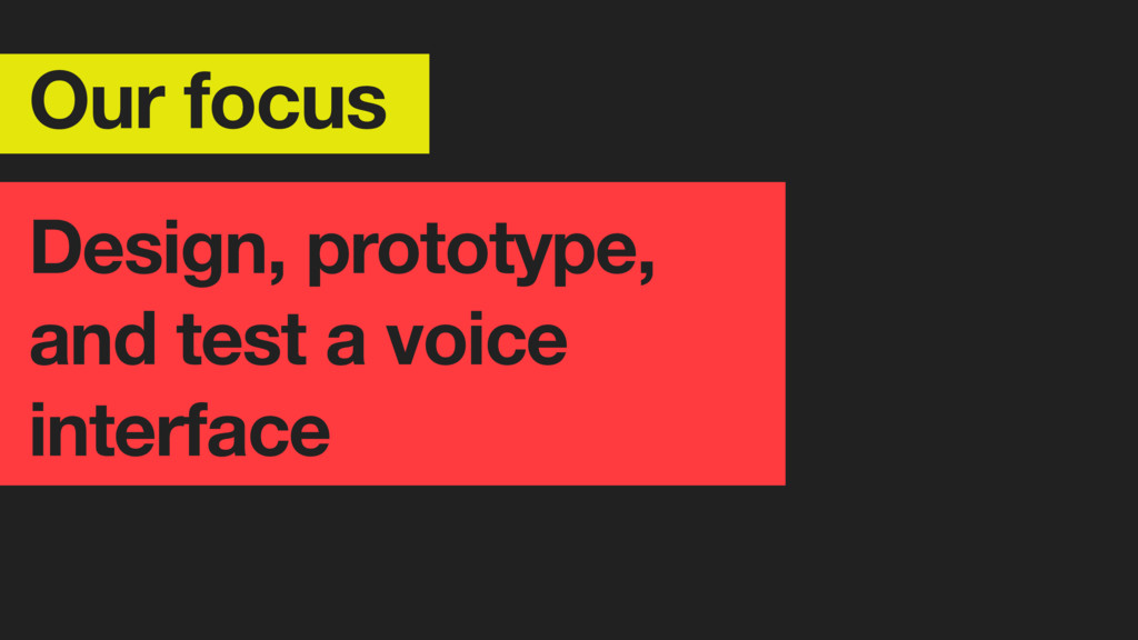 Our focus Design, prototype, and test a voice i...