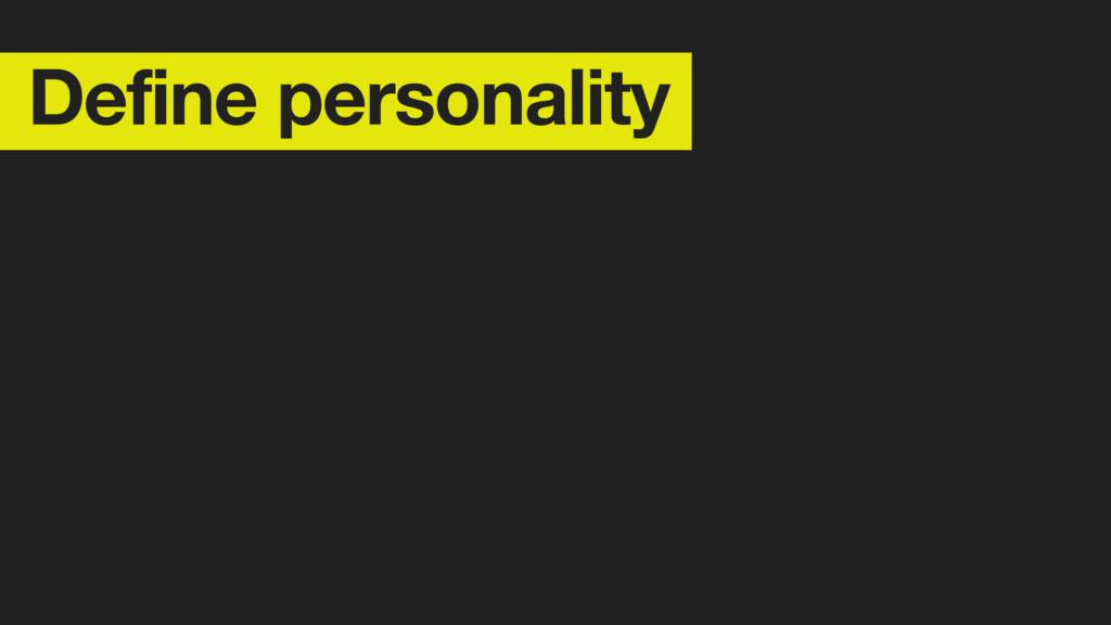 Define personality