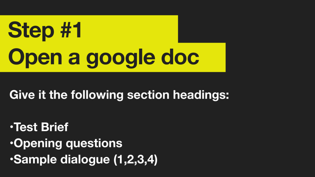 Step #1