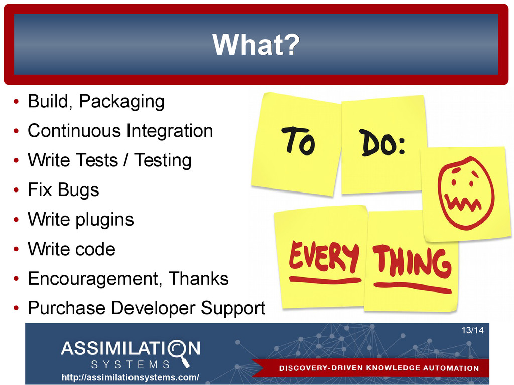 http://assimilationsystems.com/ 13/14 What? Wha...