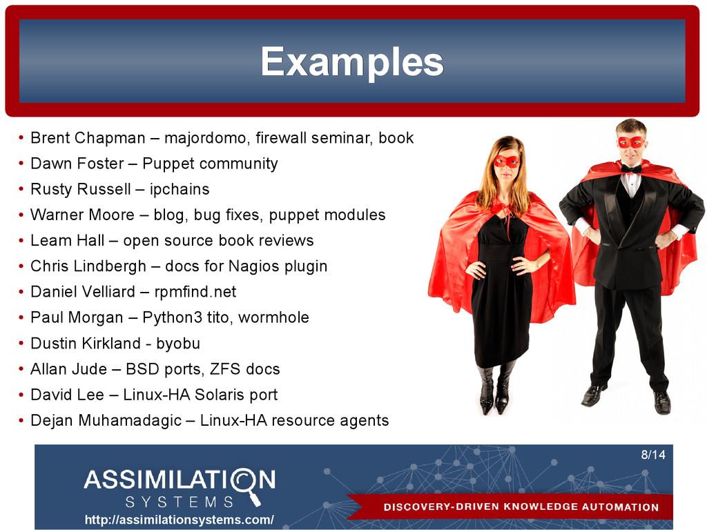 http://assimilationsystems.com/ 8/14 Examples E...