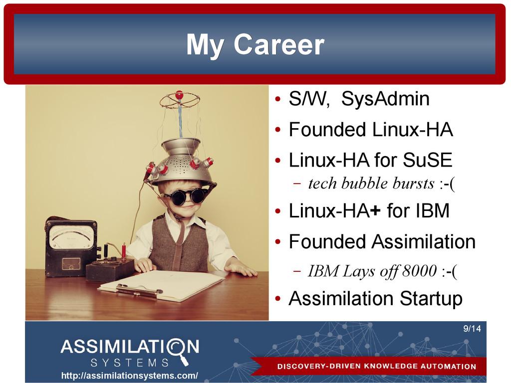http://assimilationsystems.com/ 9/14 My Career ...