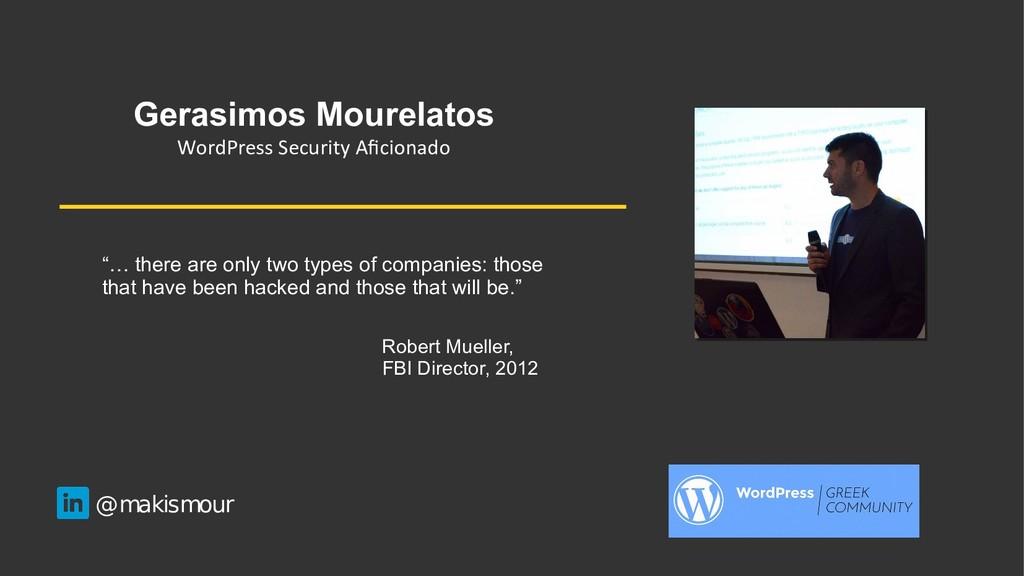 Gerasimos Mourelatos WordPress Security Aficion...
