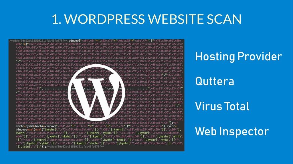 1. WORDPRESS WEBSITE SCAN Hosting Provider Qutt...
