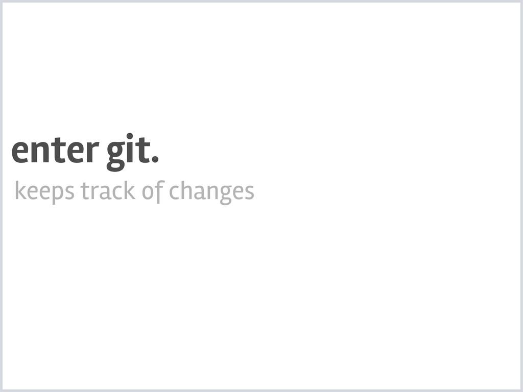 keeps track of changes enter git.