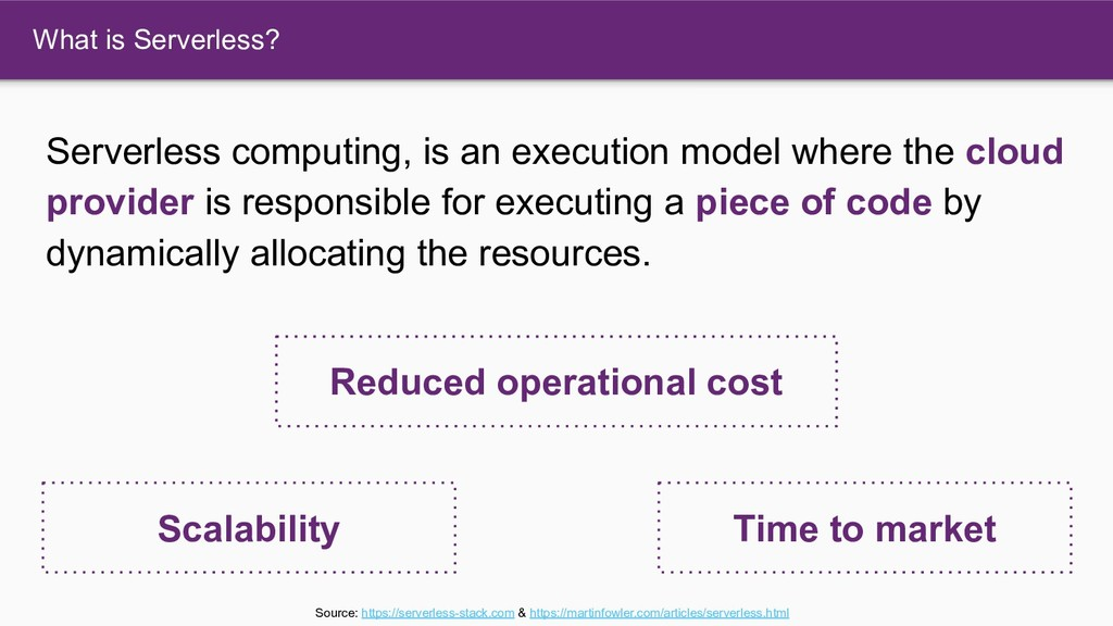 What is Serverless? Serverless computing, is an...
