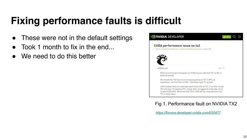 Fixing performance faults is difficult ● These ...