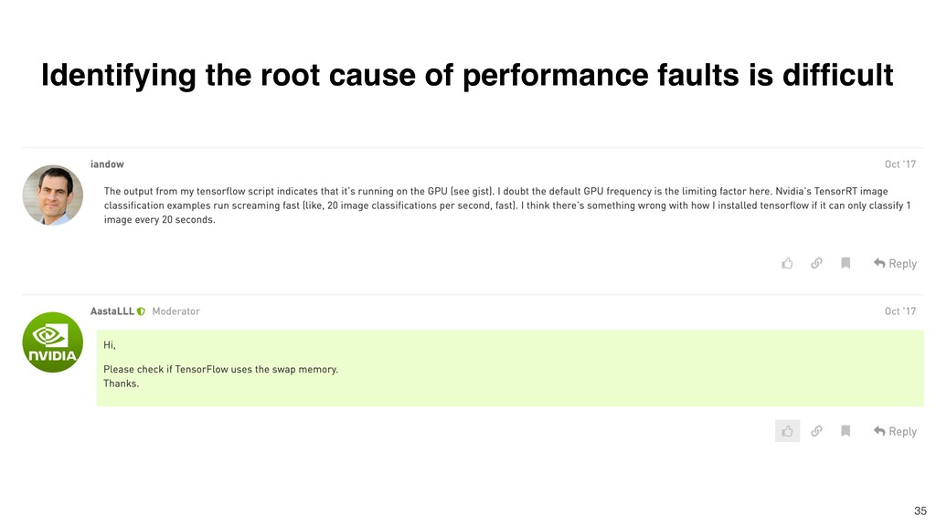 Identifying the root cause of performance fault...