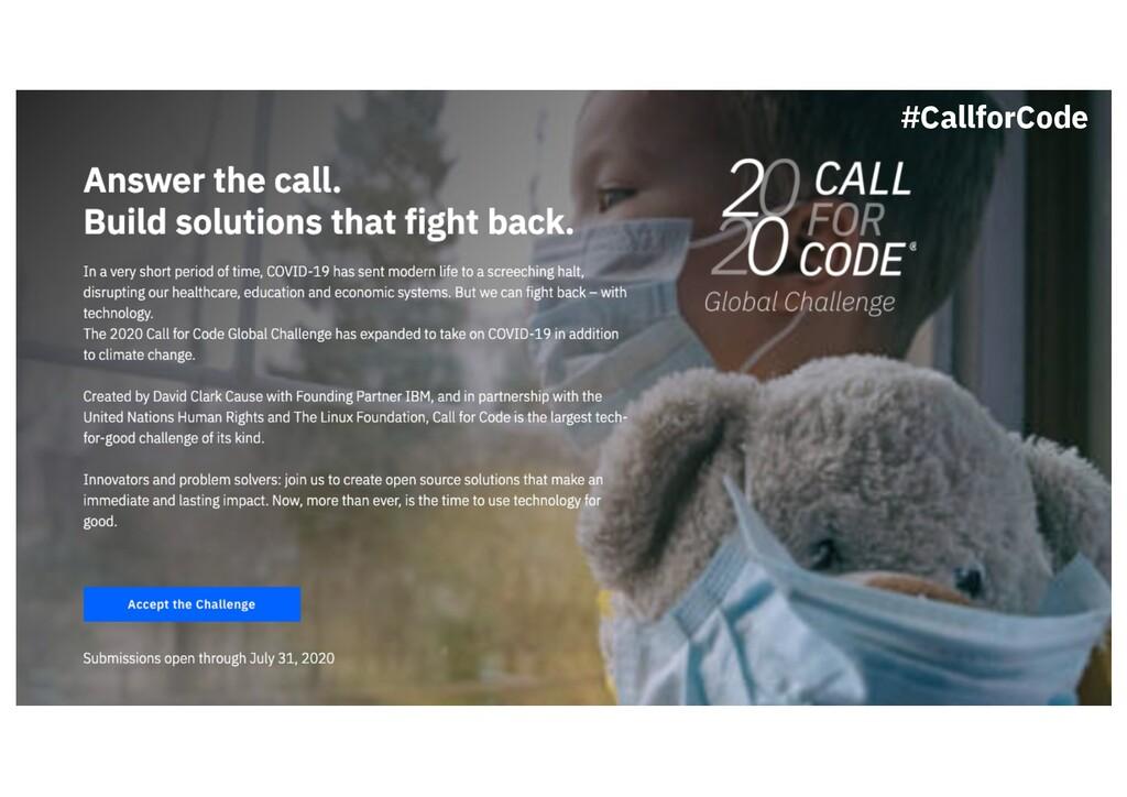 #CallforCode