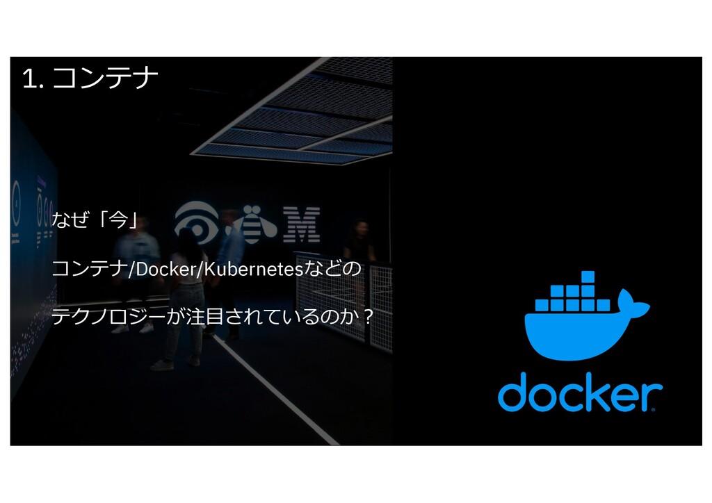 なぜ「今」 コンテナ/Docker/Kubernetesなどの テクノロジーが注⽬されているの...
