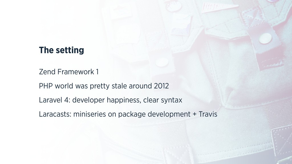The setting Zend Framework 1 PHP world was pret...