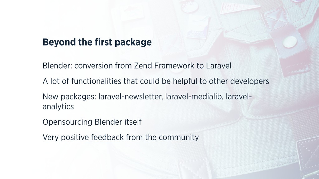 Beyond the first package Blender: conversion fro...