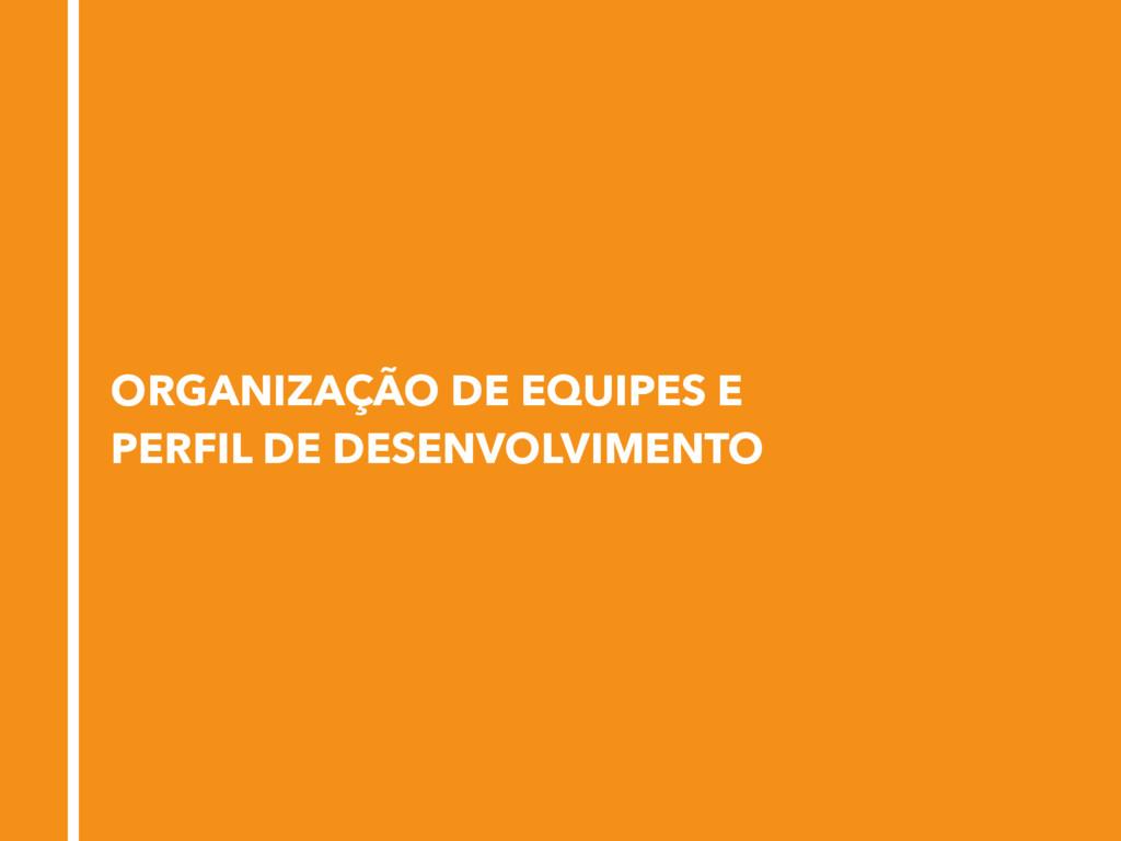 ORGANIZAÇÃO DE EQUIPES E PERFIL DE DESENVOLVIME...
