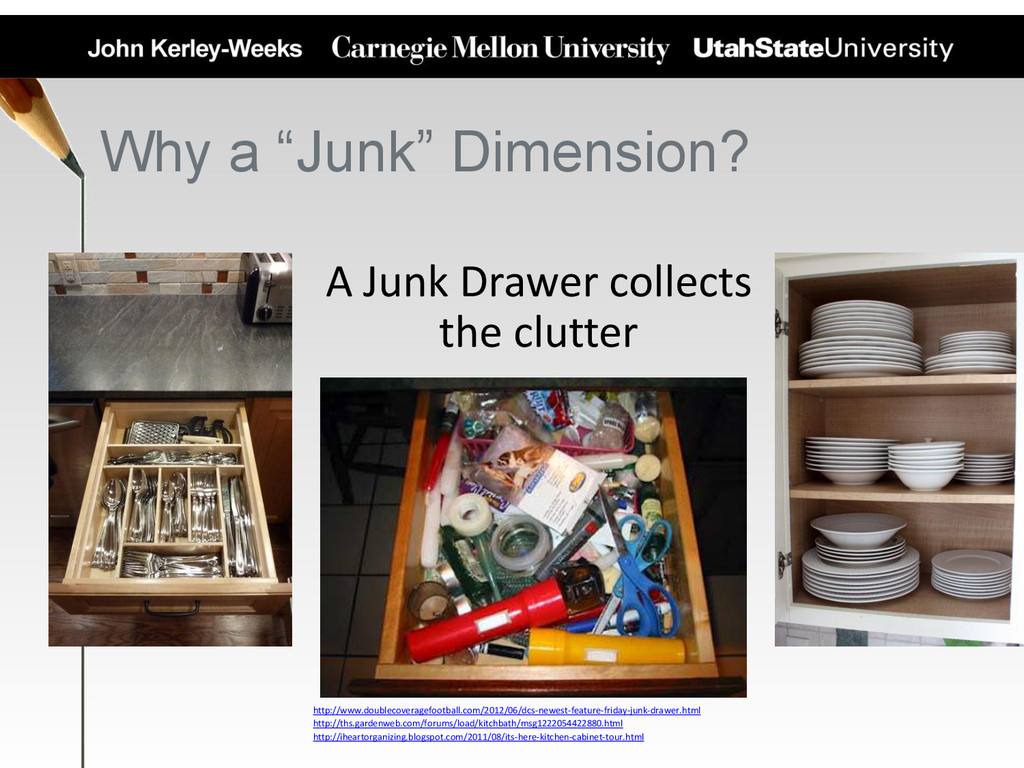 "Why a ""Junk"" Dimension? A Junk Drawer collects ..."