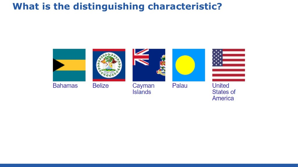What is the distinguishing characteristic?