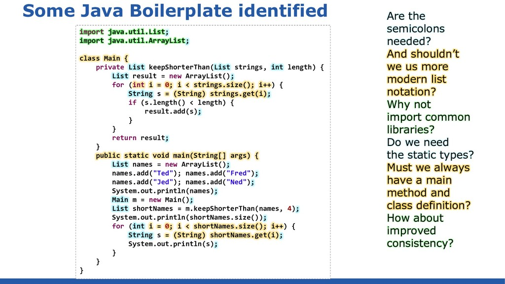 Some Java Boilerplate identified import java.ut...