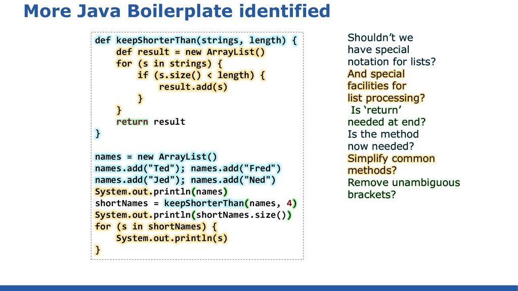 More Java Boilerplate identified def keepShorte...