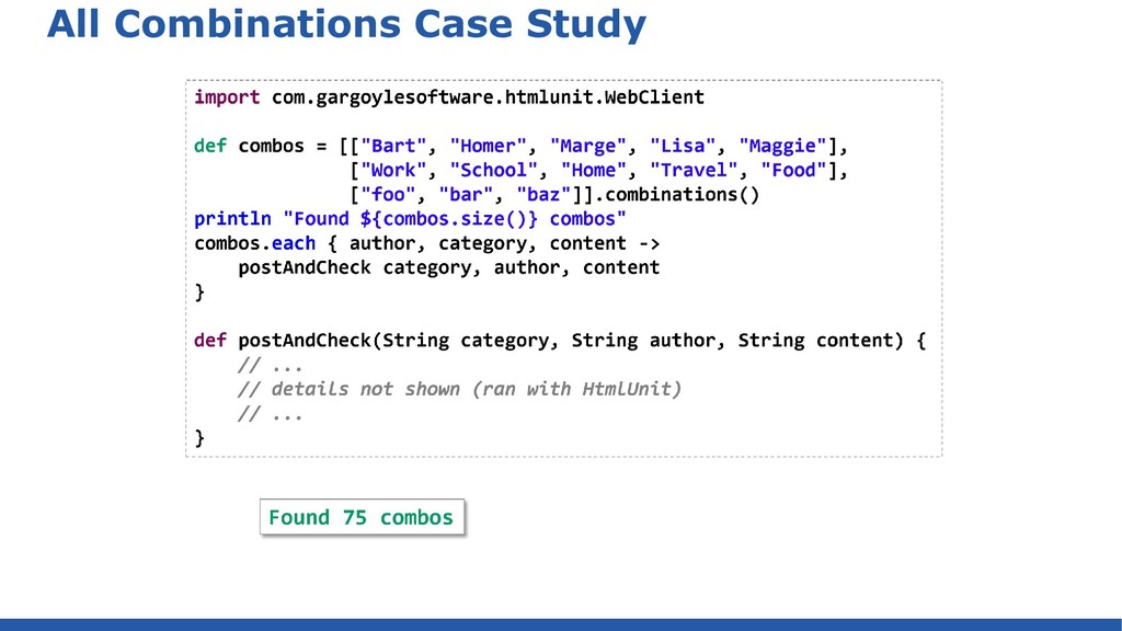 All Combinations Case Study