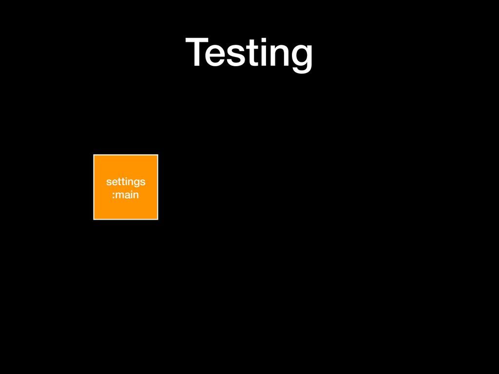 Testing settings :main