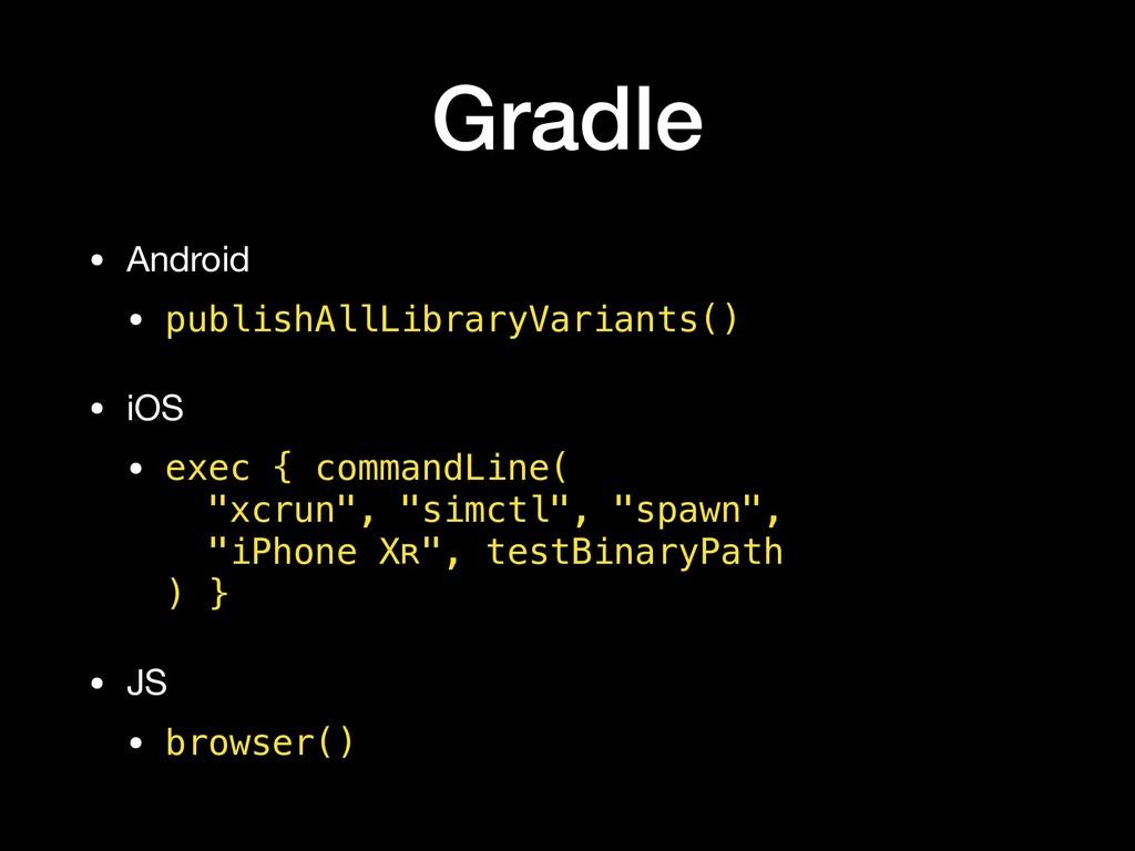 Gradle • Android  • publishAllLibraryVariants()...